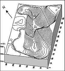 Tiefenlinienplan Silbersee