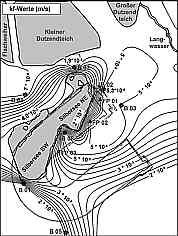 Flächenmodell Durchlässigkeitsbeiwerte im Silberseegebiet