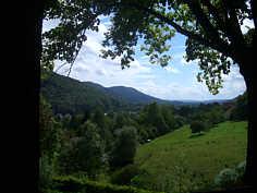 Blick von der Muschelquelle nach SW zum Wiesenttal