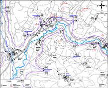 Karte der Wasserproben-Entnahmepunkte im Karstgebiet von Streitberg (Nördliche Frankenalb).