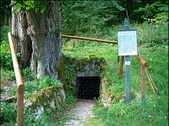 Der Trainmeuseler Brunnen auf der Karsthochfläche S' Streitberg.