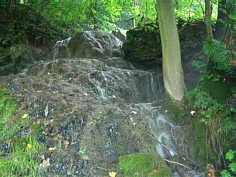 Kalktuffterrassen des Wedenbachs in Streitberg/Ofr.