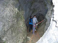 """Vermessung der """"Brunnholzhöhle"""" in Streitberg/Ofr."""