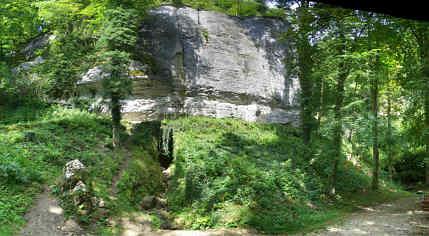 """Die """"Glatte Wand"""" an der """"Klararuh"""" in Streitberg/Ofr."""