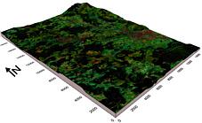 topographisches Blockbild Sulzbach/Rosenberg-Amberg