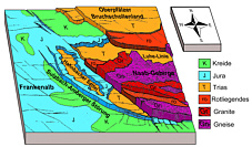 Geologisch-morphologisches Blockbild Raumes Sulzbach/Rosenberg-Amberg