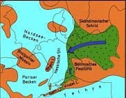 Paläogeographie Lias